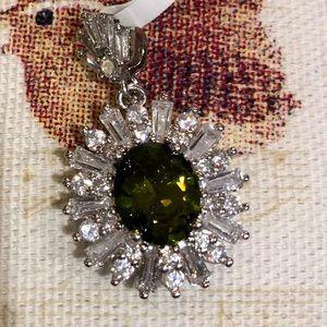 Jewelry - Peridot and white sapphire pendant